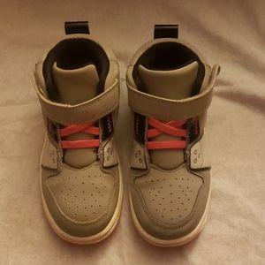 Grey & Pink Jordan's